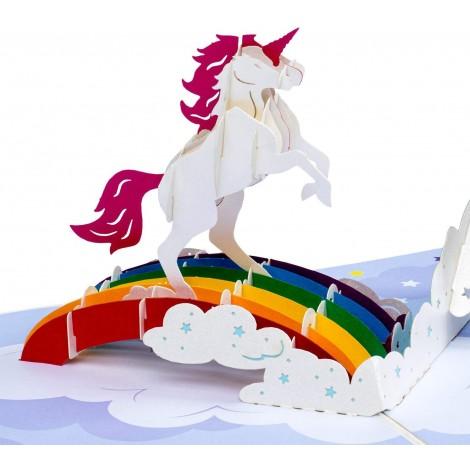 Unicorn Pop Up Birthday Card