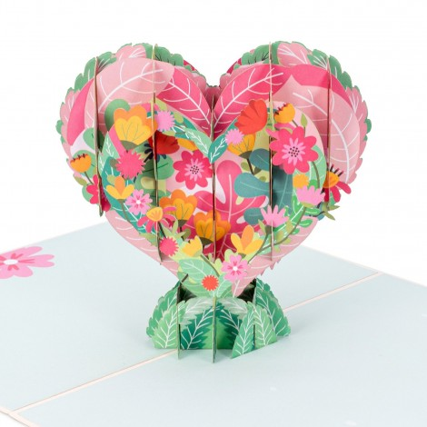 Floral Heart Pop Up Card