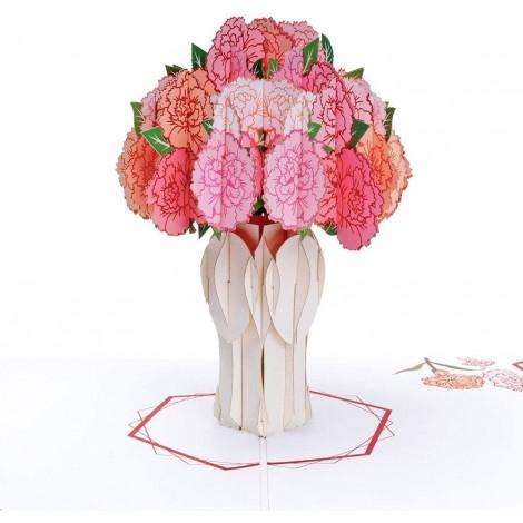 Carnation Bouquet Pop Up Card