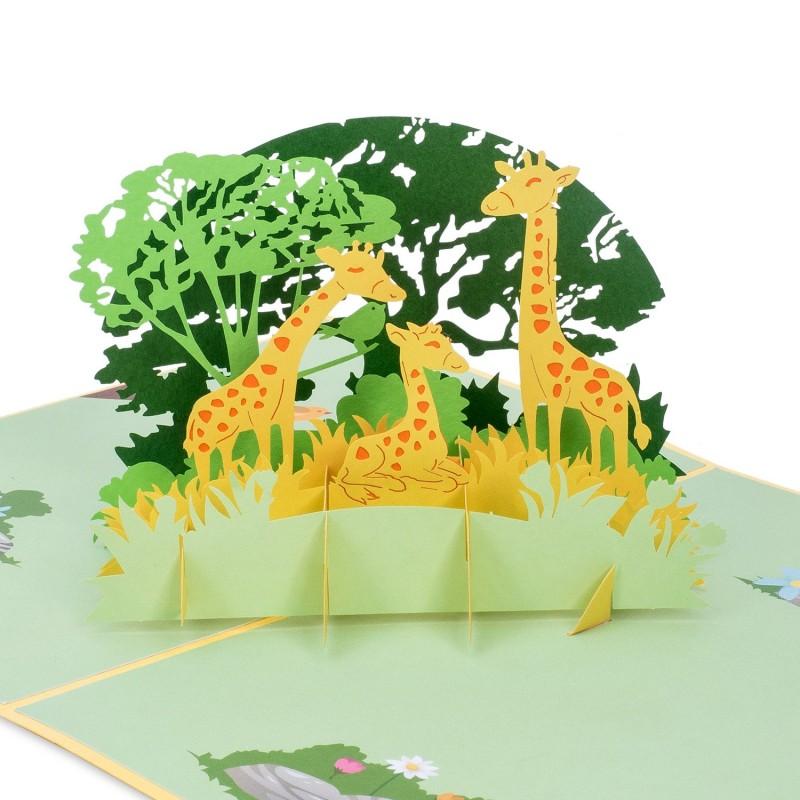 Giraffe Pop Up Card
