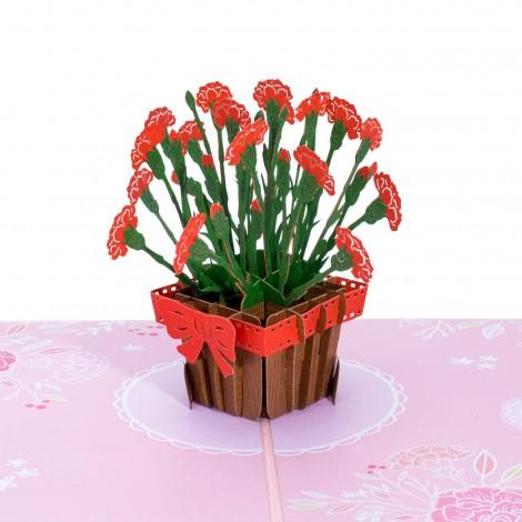 Carnations Pop Up Card