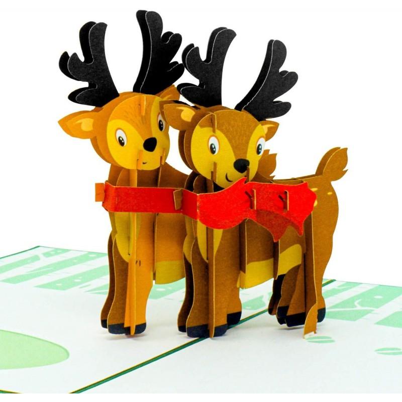 Reindeer Pop Up Chri...