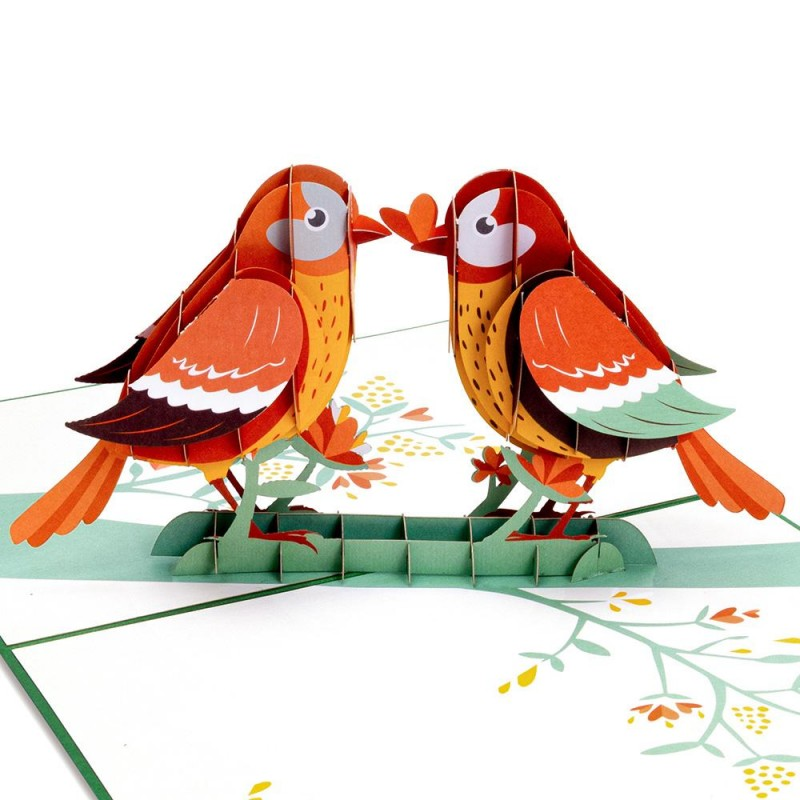 Lovebird Pop Up Card