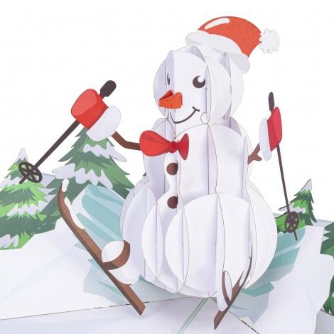 Snowman Pop Up Christmas Card…