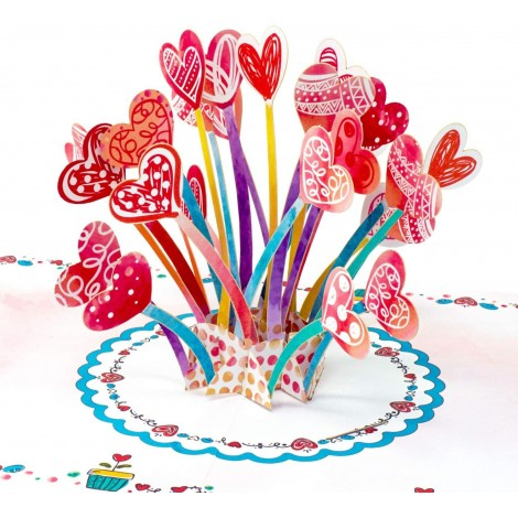 Hearts Explosion Valentines Day