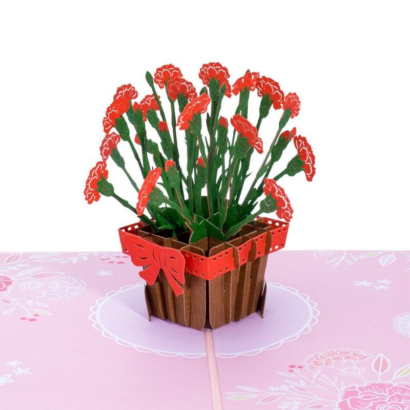 Carnations Pop Up Ca...