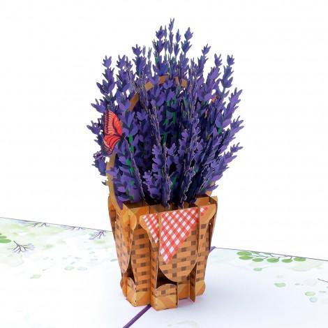Lavender Pop Up Card