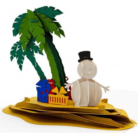 Snowman Island Christmas Card