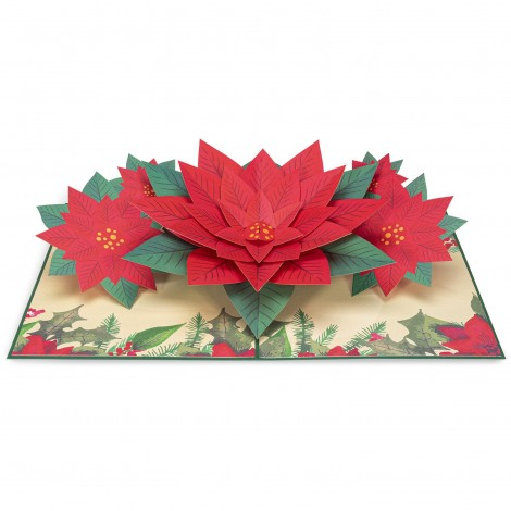 Poinsettia Pop Up Christmas Card