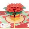 Poinsettia Christmas Flower Pop Up Card