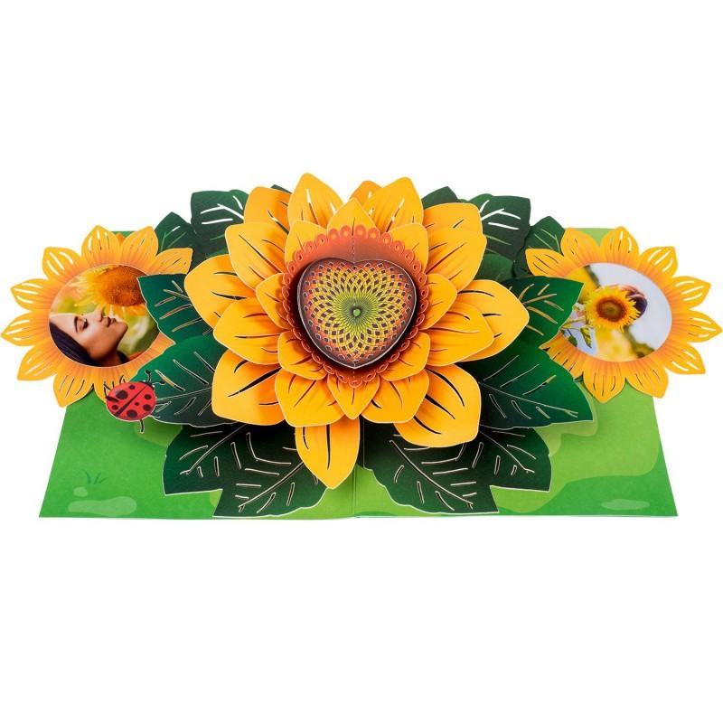 Sunflower Pop Up Car...
