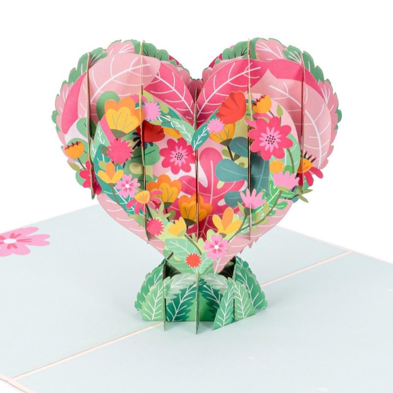 Floral Heart Pop Up ...
