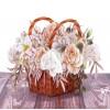 Rustic Flower Basket pop-up card